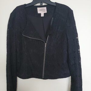 Forever 21 lace overlay lined jacket